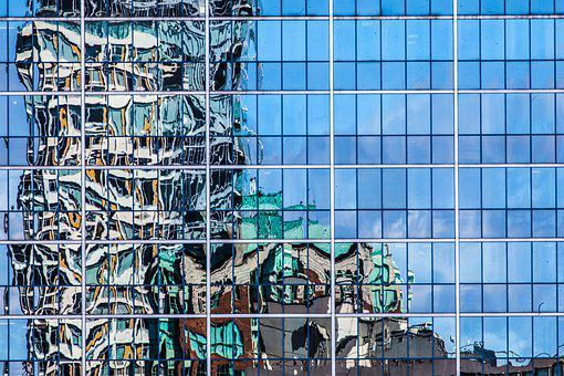 Mirroring, Vancouver, Canada, Skyline, Reflection, Mood
