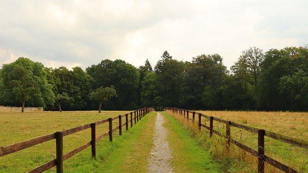 Away, Just, Fence, Land, Landscape, Rural, Travel