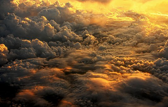 Clouds, The Plane, The Sun, Sky, Flight, Floating