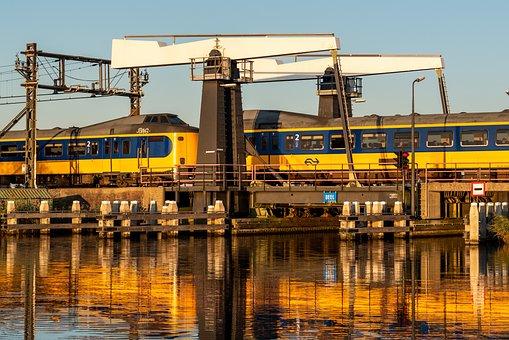 Train, Bridge, Railroad, Transportation, Architecture