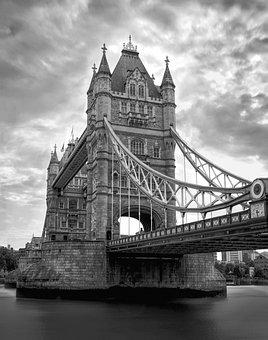 Bridge, Tower, London, England, Victorian, Old