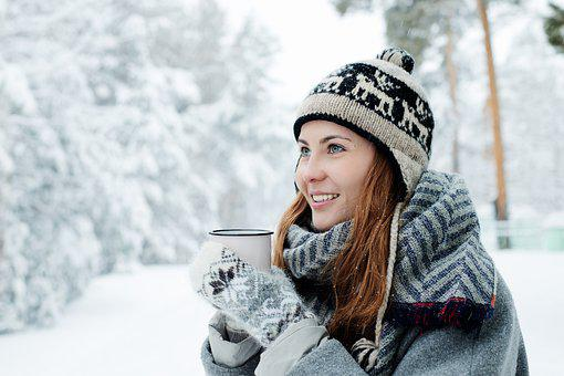 Girl, Young, Beautiful, White, Woman, Snow, Winter