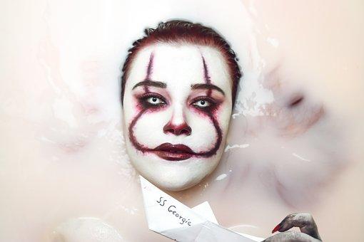 Halloween, Pennywise, Stephen King, It, Clown, Bath