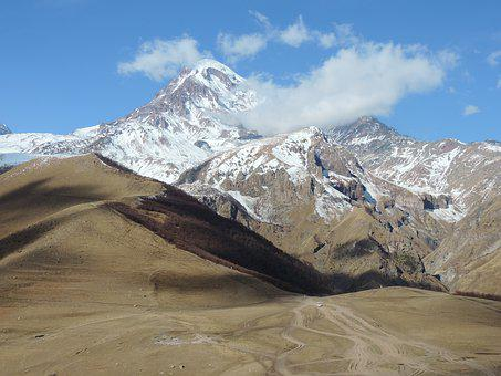 Georgia, Landscape, Mountain, Kazbek, Hiking, Caucasus