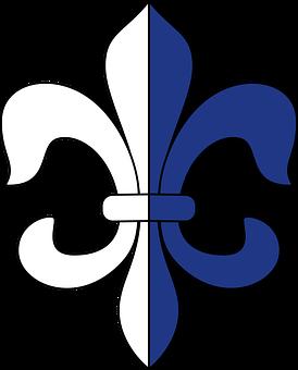Lily, Symbols, White, Blue, Stylized, French, Design