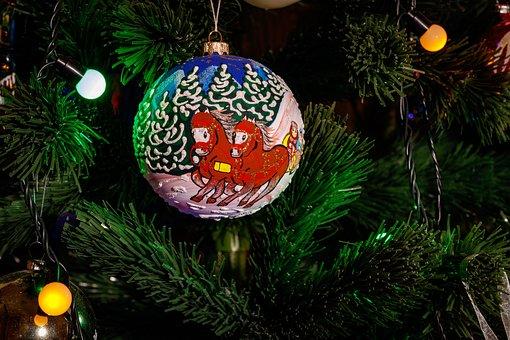 Christmas Tree, New Year's Eve, Christmas Tree Toy
