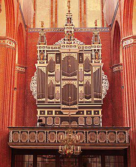 Church Organ, Gold Leaf, Ornately, Historically