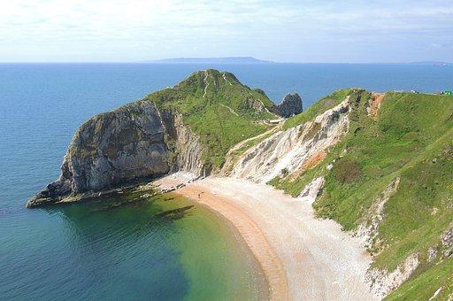 Landscape, Durdledoor, Mountain, Sea, Dorset, Natural