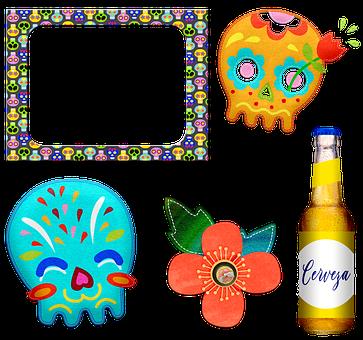 Day Of The Dead, Sugar Skulls, Dia De Los Muertos
