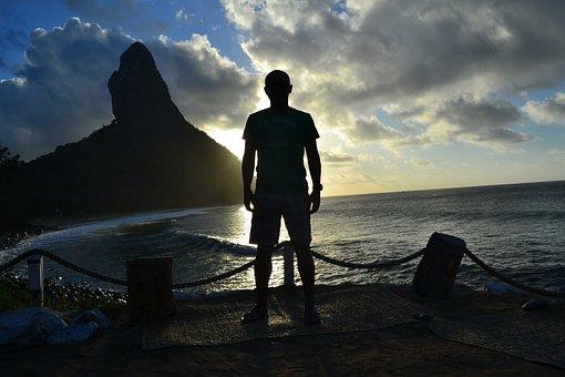 Fernando De Noronha, Sunset, Mar, Beach, Noronha