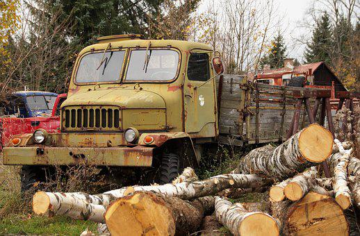 Freight, Auto, Tatra, Old, The Wreck Of The, Disabled