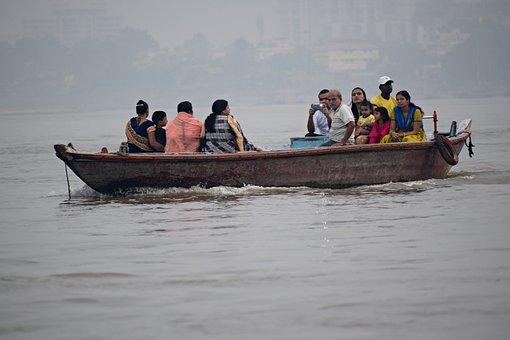 Boat, Ganga India, Varanasi, Tourism, Nature, Religious