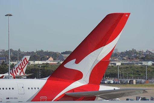 Qantas, Airline, Decals, Australia, Flying, Kangaroo