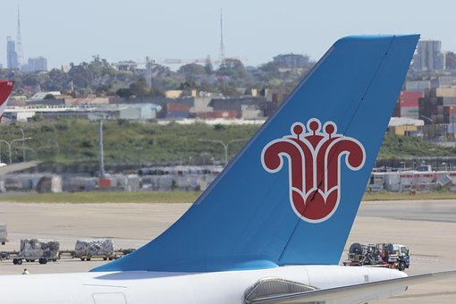 Airline, Decals, China, Southern, Brand, Blue, Tail