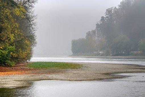 Danube Gorge, Danube, Rock, Autumn, River, Landscape