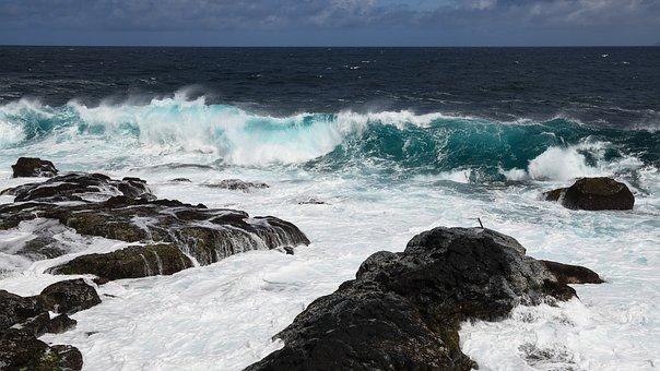 Surf, Sea, Coast, Azores, Atlantic