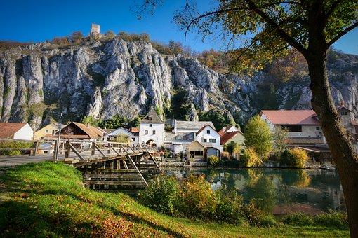 Altmühl Valley, Essing, Niederbayern, River Bridge