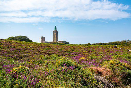 France, Brittany, Cap Fréhel, Lighthouse
