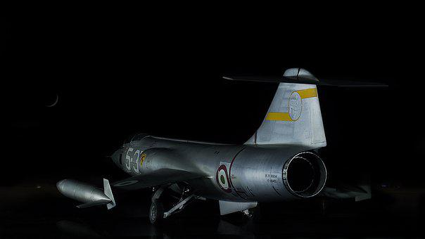 Airport, Night, The Air Force Of Italy, Lockheed F-104