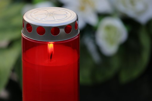 Red Candle, Light, Love, Remembering, Lantern