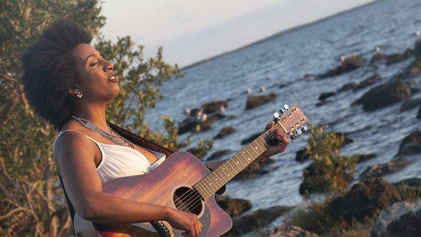 Singer, Guitar, Sunset, Music, Unplugged, Musician