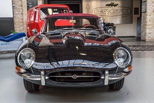 Jaguar, E Type, Oldtimer, Classic, Sports Car, Chrome