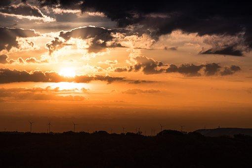 Sun, Nature, Landscape, Sunset, Mood, Sky, Clouds