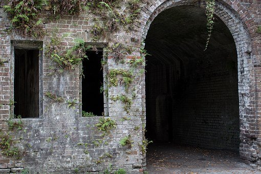 Arch, Brick, Fern, Architecture, Old, Building, Outdoor