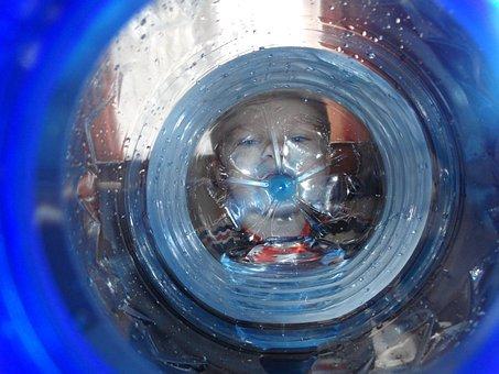 Baby, Plastic Bottle, Bottle, Drinking, Water, Blue