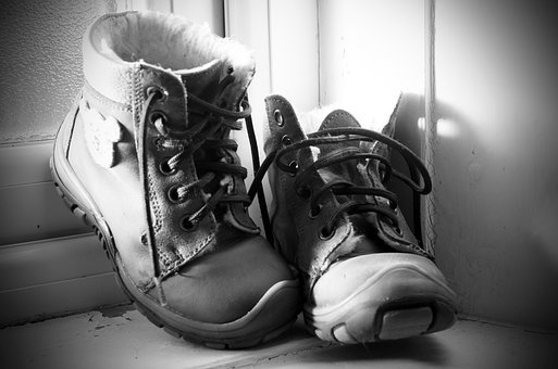 Boots, Shoes, Baby, Winter, Laces, Background, Small