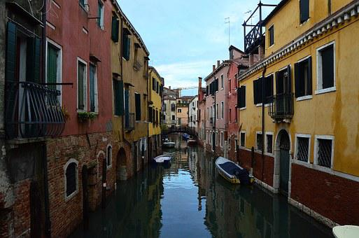 Channel, Italy, Venice, Bridge, Boat, River, Building
