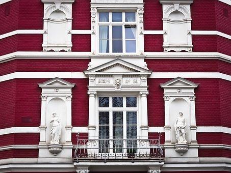 Facade, Old, Building, Window, Architecture, Sculpture