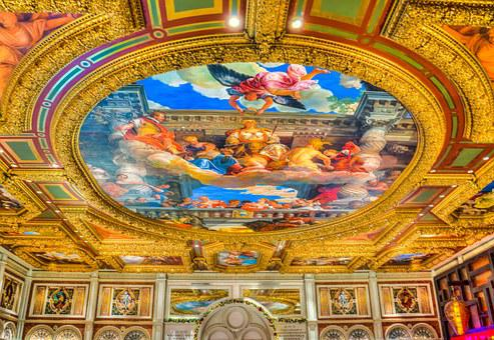 Venetian, Ceiling, Las Vegas, Michaelangelo Imitation