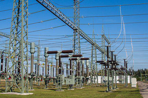 Substation, Electricity, Current, High Voltage