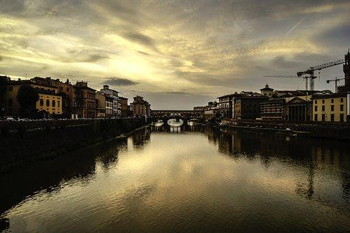 Florence, Ponte Vecchio, Italy, Tuscany, Europe