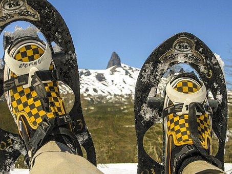 Snowshoe, Snow Shoes, Snowshoeing, Hiking, Winter, Feet