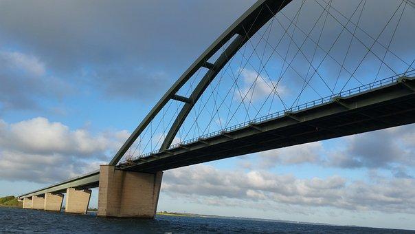 Baltic Sea, Fehmarn, Sea, Fehmarnsund Bridge, Bridge