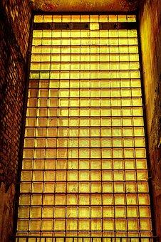 Wall, Glass, Glass Bricks, Glass Blocks, Shimmer