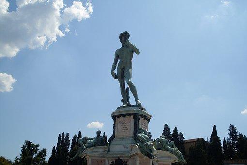 Michelangelo, Statue, Florence, David, Bronze