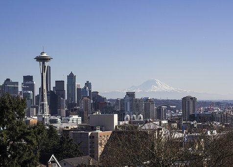 Seattle, Mount Rainier, Washington, Space Needle