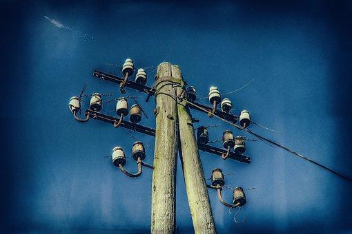Mast, Current, Power Line, Nostalgia, Line, Energy