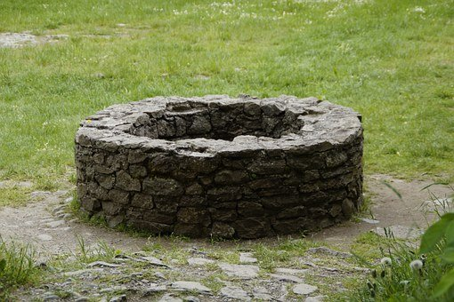 Fountain, Old, Stone Wall, Wall, About, Middle Ages