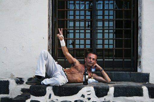 Tenerife, Homeless Man, Beer, Peace