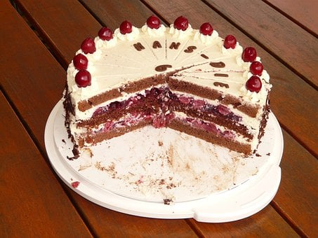 Black Forest Cake, Cake, Gate, Cutting Of, Piece Of Pie