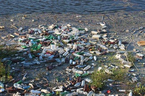 Bottles, Dump, Floating, Garbage, Plastic, Pollution