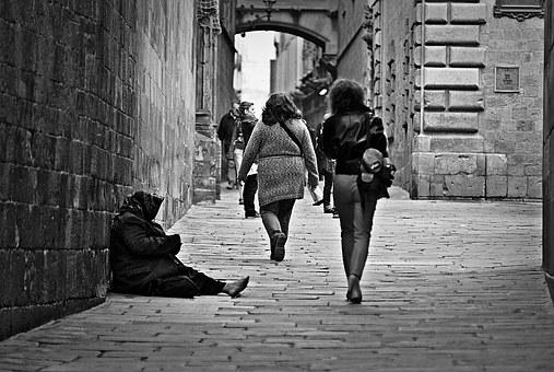 Poverty, Pauper, Poor, Street, Indifference, Homeless