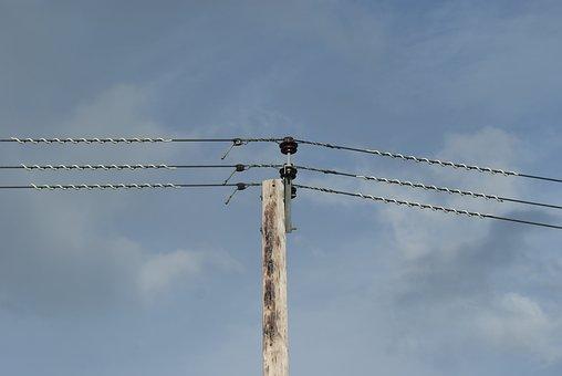 Power Lines, Telegraph, Sky, Power, Electricity, Line