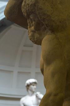 Statues, Florence, David, Michelangelo, Art, Prisons