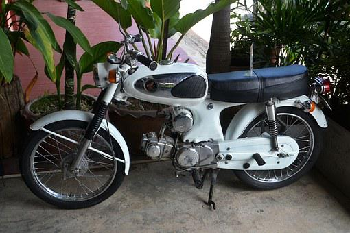 Motorbike, Honda, Puch, Moped, Motorcycle, Two Wheeled