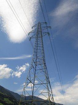 Current, Line, Electricity, Power Line, Energy, Pylon